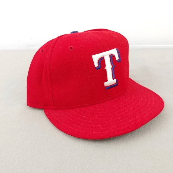 95f29379d Vintage Texas Rangers Red Wool Fitted Baseball Cap